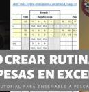 Cómo Crear Rutinas de Pesas en Excel.